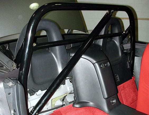 Black Powdercoat S2000 Bar with Removable Diagonal & Removable Harness Bar