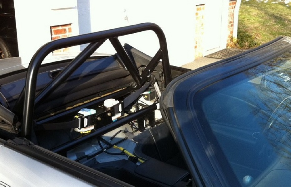 Black Powdercoat S2000 Bar with Double Diagonal & Harness Bar w/ CBAR installed