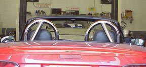 Deuce Double Hoop Roll Bar Stainless, Center Braced