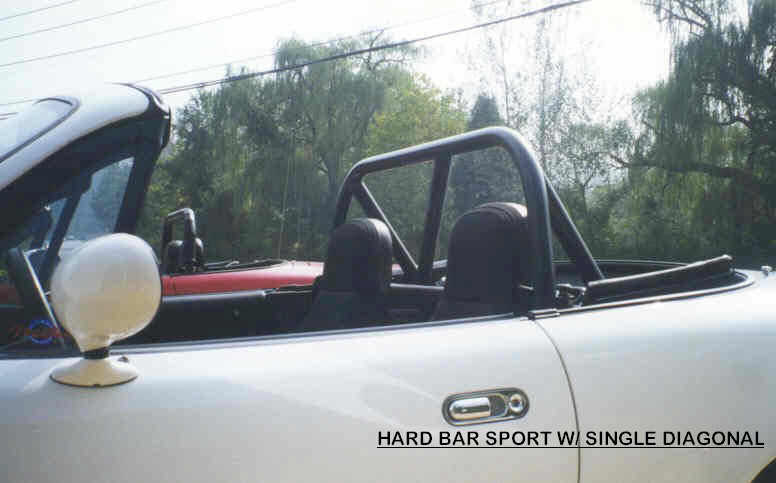 Black Powdercoat Hard Bar Sport with Single Diagonal